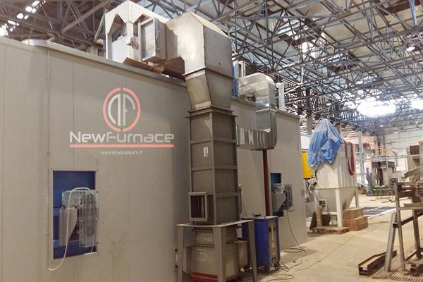 heat exchanger enameling furnace