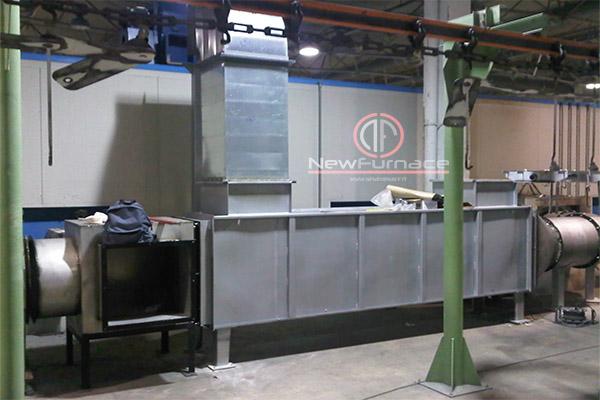 smoke air heating exchanger enameling furnace