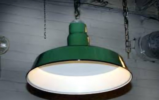 porcelain enameled light