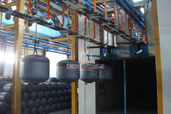 power and free enameling furnace