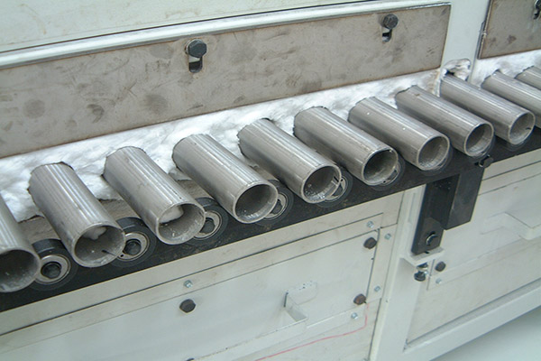 rolls enameling furnace gas fired
