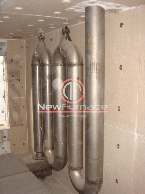radiant tube for enameling furnace