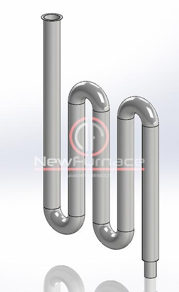 radiant tube enameling furnace