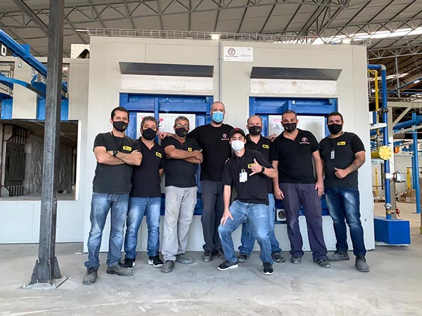 new furnace italia enameling furnace team